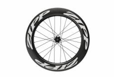 Roue arriere zipp 808 carbon tubeless disc 9 12x142mm corps campagnolo stickers blanc