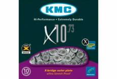 Chaine kmc x10 73 114 maillons gris