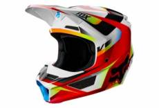 Casque integral enfant fox v1 motif rouge blanc kid s 47 48 cm
