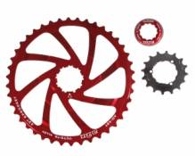 A2z kit de conversion pour cassette shimano 10 vitesses rouge 40