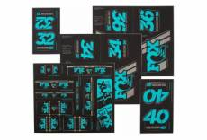 Kit stickers fox racing shox heritage 2019 fourche et amortisseur turquoise