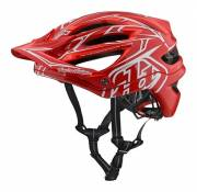 Casque Troy Lee Designs A2 MIPS Pinstripe 2 Rouge - XS/S