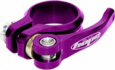 Collier de selle et raccord rapide Hope - Violet - 34.9mm