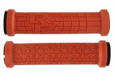 Paire de grips race face grippler ltd edition limitee orange burnt 33