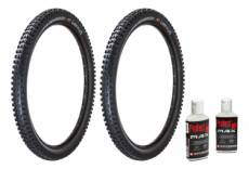 Lot de 2 pneus vtt hutchinson griffus 2 50 29 tubeless ready souple sideskin 2 preventifs protect air 2 50