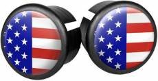 Velox Flag Bar End Plugs - USA