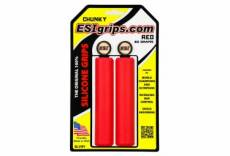 Paire de grips esi chunky 32mm rouge