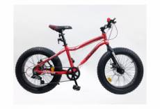 Velo 20 rigide fat bike huge 6 vitesses double freins a disque shimano tout terrain