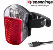 Eclairage arriere velo spanninga rechargeable usb