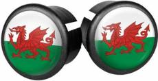 Velox Flag Bar End Plugs - Wales