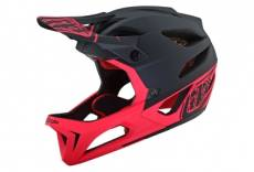Casque integral troy lee designs stage stealth noir rose fluo mat xs s 54 56 cm