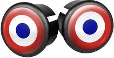Velox Flag Bar End Plugs - Bullseye