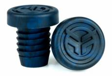 Embouts de poignees bmx freestyle federal rubber midnight blue black tie dye